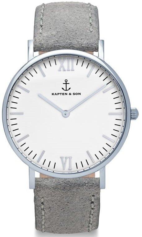 KAPTEN and SON Silver Grey Vintage Leather + dárek zdarma
