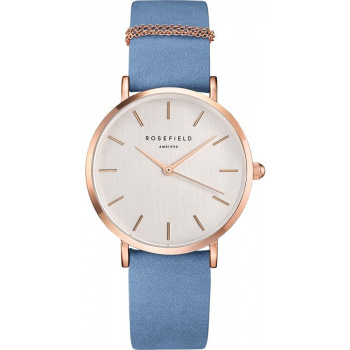 ROSEFIELD THE WEST VILLAGE AIRY BLUE - ROSE GOLD / 33MM