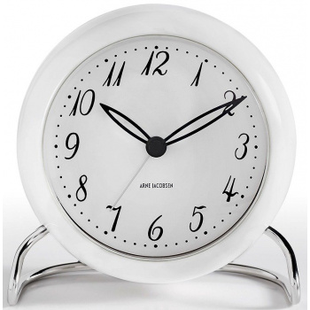 ARNE JACOBSEN AJ TABLE CLOCK LK W/ALARM