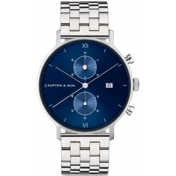 KAPTEN and SON CHRONO SILVER BLUE STEEL