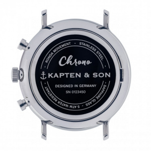Hodinky KAPTEN and SON CHRONO SILVER STEEL