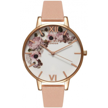 OLIVIA BURTON SIGNATURE FLORAL DUSTY PINK & ROSE GOLD WATCH