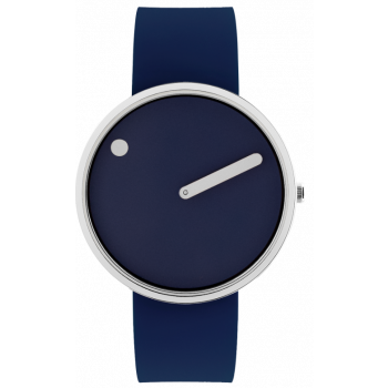 PICTO NAVY BLUE/POLISHED STEEL 43393-0520S