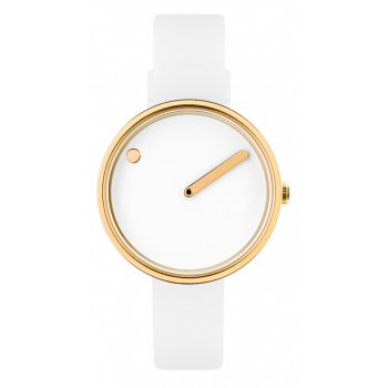PICTO WHITE/POLISHED GOLD 43320-0212G