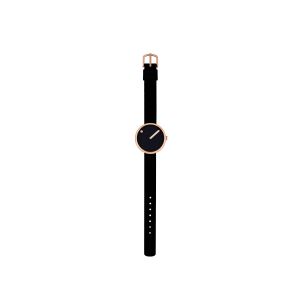 Hodinky PICTO BLACK/POLISHED ROSE GOLD 43311-0112R