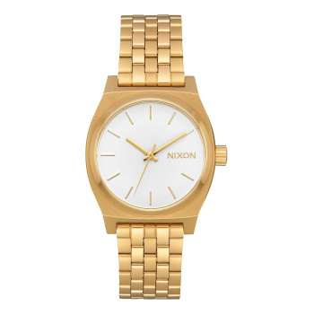 NIXON MEDIUM TIME TELLER ALL GOLD WHITE