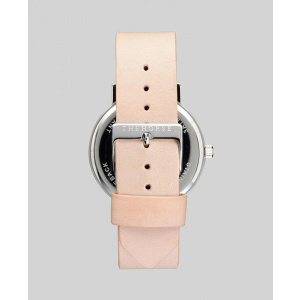 Hodinky THE HORSE POLISHED STEEL / WHITE FACE WITH ROSE GOLD INDEXING