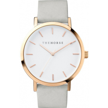 THE HORSE POLISHED ROSE GOLD / WHITE FACE / GREY BAND