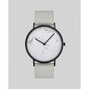 Hodinky THE HORSE WHITE STONE / GREY LEATHER