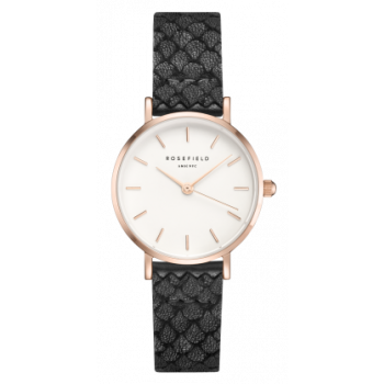 ROSEFIELD THE SMALL EDIT WHITE ROSE GOLD BLACK 26 MM