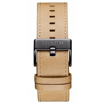 MVMT MENS CLASSIC SERIES 24MM SANDSTONE LEATHER GUNMETAL