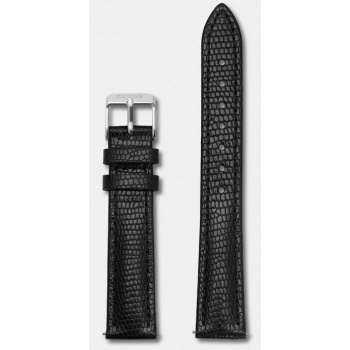 CLUSE STRAP 16 MM - BLACK LIZARD/SILVER