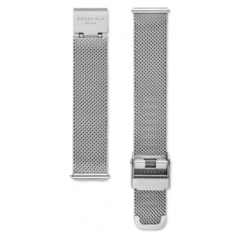 ROSEFIELD TRIBECA SILVER MESH STRAP SILVER / 33MM