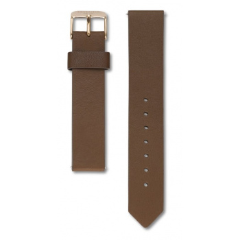 ROSEFIELD TRIBECA BROWN STRAP ROSE GOLD / 33MM