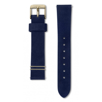 ROSEFIELD WEST VILLAGE VELVET BLUE STRAP GOLD / 33MM