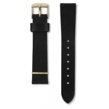 ROSEFIELD WEST VILLAGE BLACK STRAP GOLD / 33MM