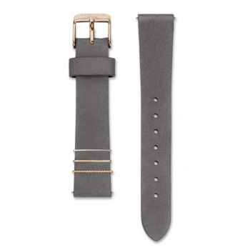 ROSEFIELD WEST VILLAGE ELEPHANT GREY STRAP ROSE GOLD / 33MM