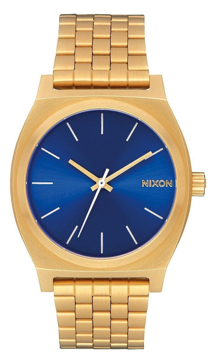 NIXON TIME TELLER ALL GOLD / BLUE SUNRAY + dárek zdarma