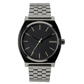 NIXON TIME TELLER POLISHED GUNMETAL / LUM