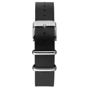 CHPO 14228BB-S Black Leather Nato Strap - 15 mm