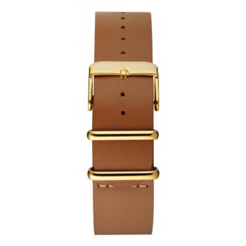 CHPO 14229AA-S Brown Leather Nato Strap - 20 mm