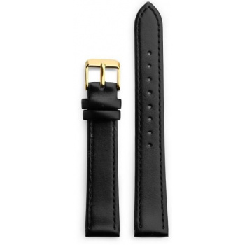 CHPO 14231AA-S Black Vegan Leather Strap - 15 mm