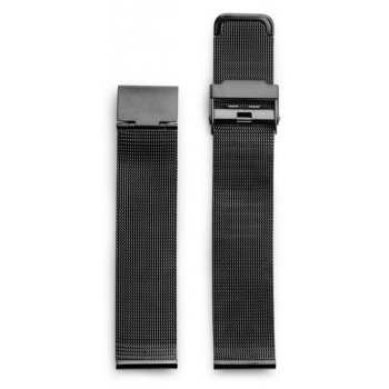 CHPO 14232EE-S Black Metal Mesh Wristband - 20 mm
