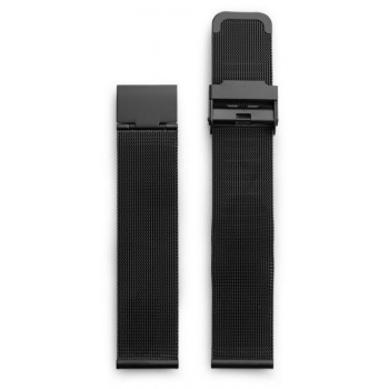 CHPO 14232JJ-S Black Metal Mesh Wristband - 20 mm