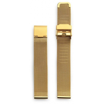 CHPO 14233BB-S Gold Metal Mesh Wristband - 15 mm