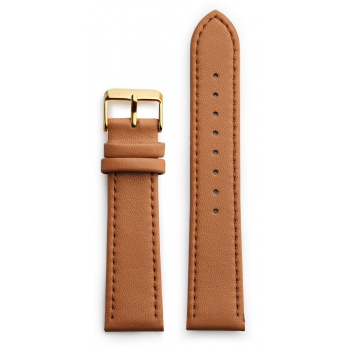 CHPO 14230CC-S Brown Vegan Leather Strap - 20 mm