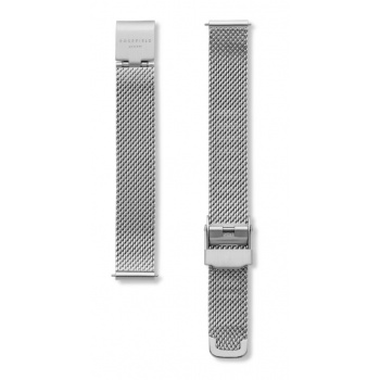 ROSEFIELD THE SMALL EDIT SILVER MESH STRAP SILVER / 26MM
