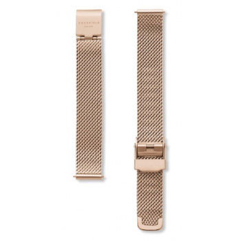 ROSEFIELD THE SMALL EDIT ROSE GOLD MESH STRAP ROSE GOLD / 26MM