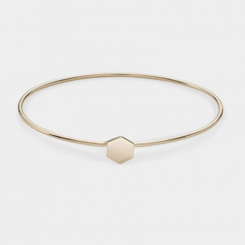 CLUSE ESSENTIELLE GOLD ​HEXAGON BANGLE​ ​BRACELET​ CLJ11001