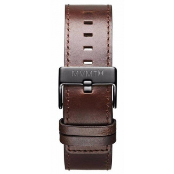 MVMT MENS CLASSIC SERIES 24MM BROWN LEATHER GUNMETAL