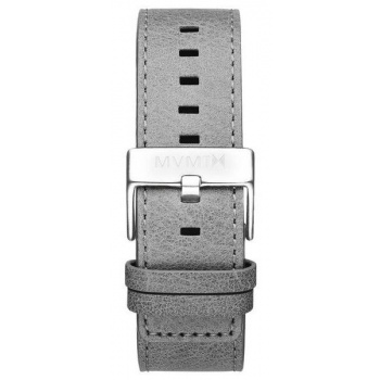 MVMT MENS CLASSIC SERIES 24MM LIGHT GREY LEATHER SILVER