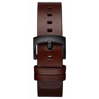 MVMT MENS REVOLVER SERIES 20MM BROWN LEATHER BLACK