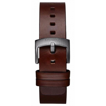 MVMT MENS REVOLVER SERIES 20MM BROWN LEATHER GUNMETAL