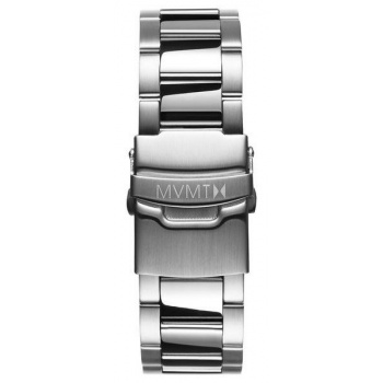 MVMT MENS BLACKTOP SERIES 24MM STEEL BAND SILVER