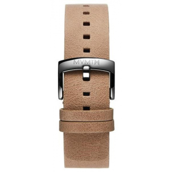 MVMT MENS BLACKTOP SERIES 24MM SANDSTONE LEATHER SILVER