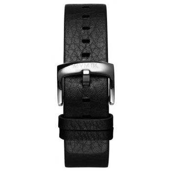 MVMT MENS BLACKTOP SERIES 24MM BLACK LEATHER SILVER