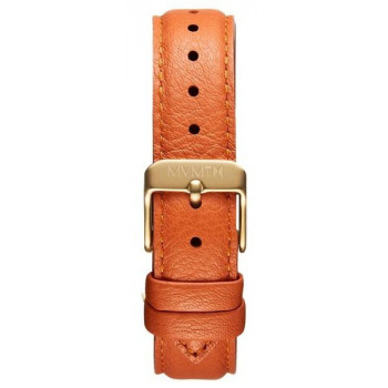 MVMT WOMENS BOULEVARD SERIES 18MM ORANGE LEATHER GOLD