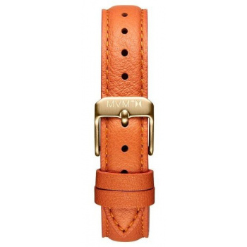 MVMT WOMENS NOVA SERIES 16MM ORANGE LEATHER GOLD