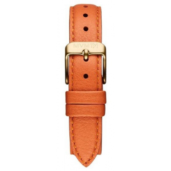MVMT WOMENS AVENUE SERIES 14MM ORANGE LEATHER ROSE GOLD