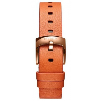 MVMT WOMENS BLOOM SERIES 16MM ORANGE LEATHER ROSE GOLD
