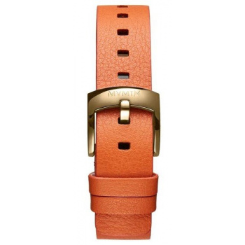 MVMT WOMENS BLOOM SERIES 16MM ORANGE LEATHER GOLD