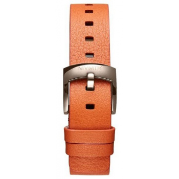 MVMT WOMENS BLOOM SERIES 16MM ORANGE LEATHER TITANIUM