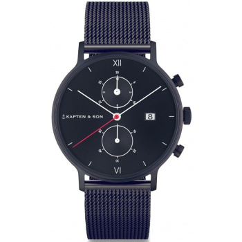 KAPTEN and SON CHRONO BLACK MIDNIGHT MESH