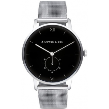 KAPTEN and SON HERITAGE SILVER BLACK MESH