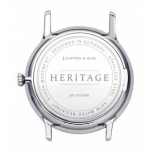 Hodinky KAPTEN and SON HERITAGE SILVER ALL BLACK