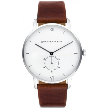 KAPTEN and SON HERITAGE SILVER BROWN LEATHER
